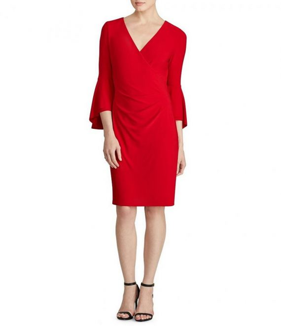 601d3701fc Lauren Ralph Lauren tűzpiros alkalmi ruha | XS ⋆ USAStock